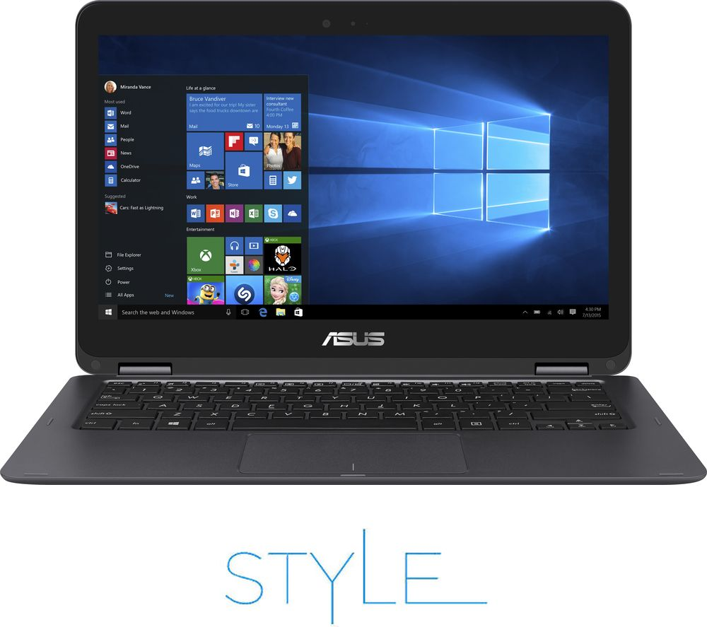 "ASUS ZenBook Flip UX360CA 13.3"" 2 in 1 - Grey + Office 365 Personal + LiveSafe Unlimited 2017 - 1 year"