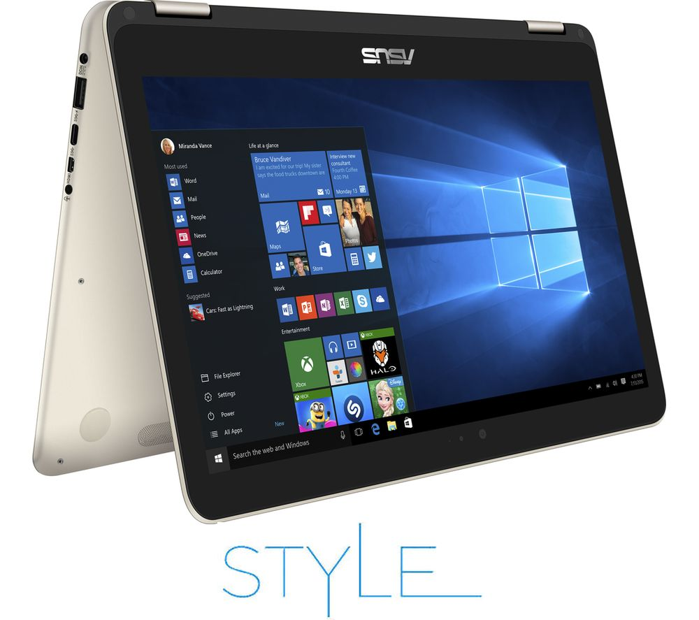 "ASUS ZenBook Flip UX360CA 13.3"" 2 in 1 - Gold + Office 365 Personal + LiveSafe Unlimited 2017 - 1 year"