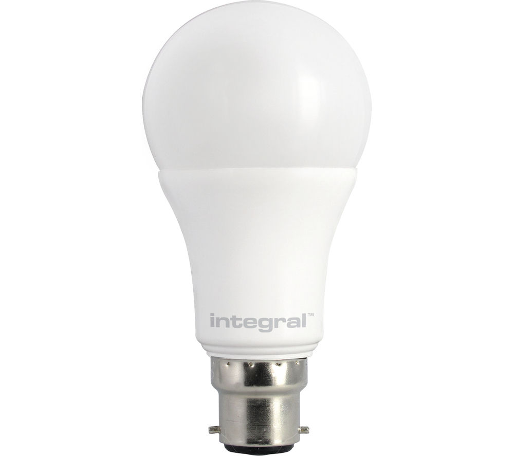 INTEGRAL  806lm B22 Dimmable LED Light Bulb - Warm White, White