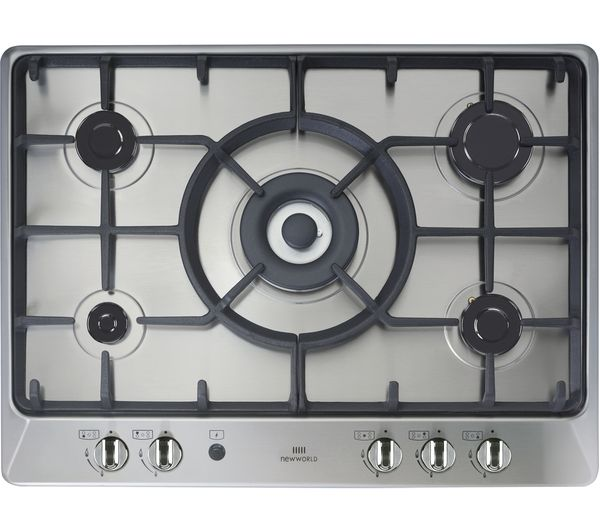 NEW WLD  NWGHU701 Gas Hob  Stainless Steel Stainless Steel