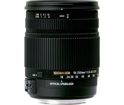 SIGMA 18-250 mm f/3.5-6.3 DC HSM Macro Lens - for Sony