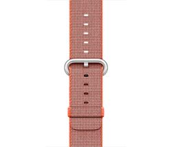 APPLE Watch 42 mm Space Orange & Anthracite Woven Nylon Band