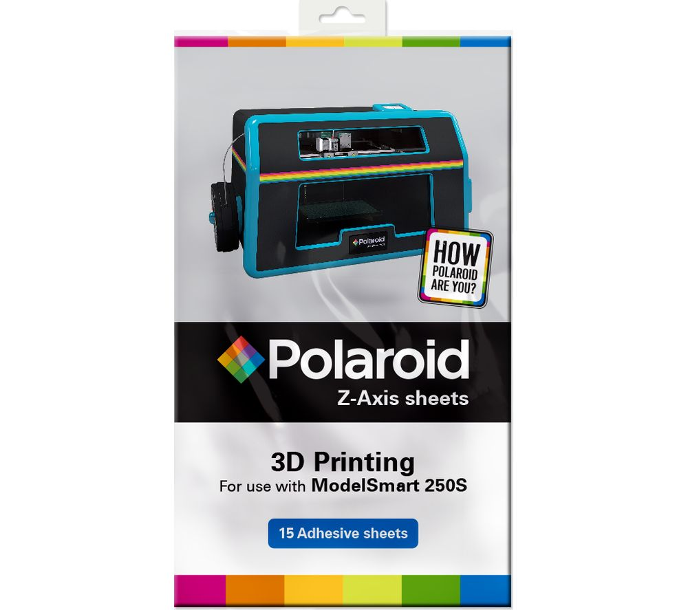 POLAROID Z-Axis 3D Printing Adhesive Sheets - Pack of 15
