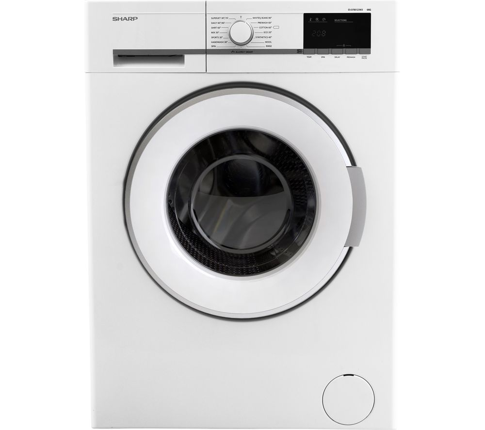 Image of SHARP ES-GFB6123W3 Washing Machine - White, White