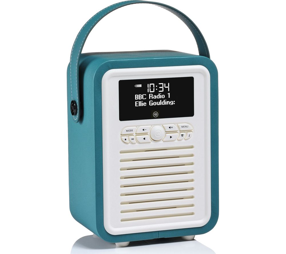 Retro Mini VQ-MINI-TL Portable Bluetooth DAB+/FM Radio - Teal