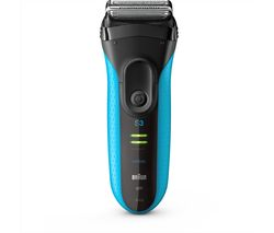 BRAUN Series 3 3040S Wet & Dry Shaver - Black & Blue