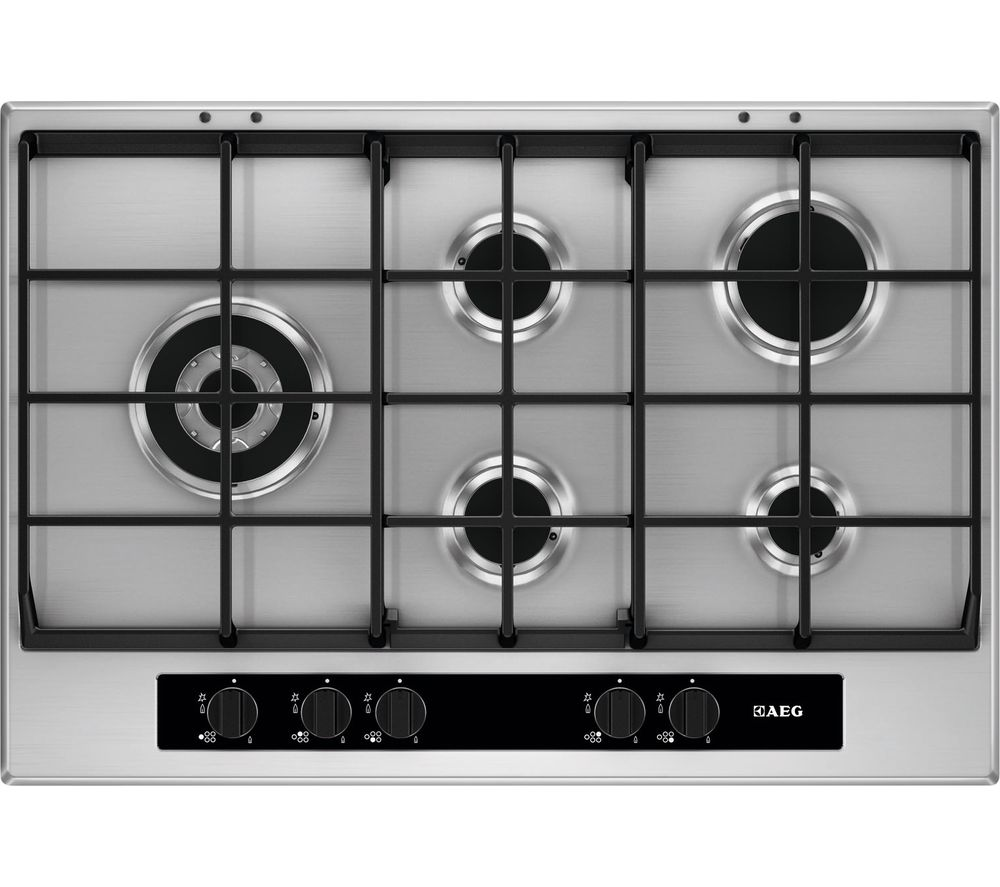 AEG  HG755550SY Gas Hob  Stainless Steel Stainless Steel
