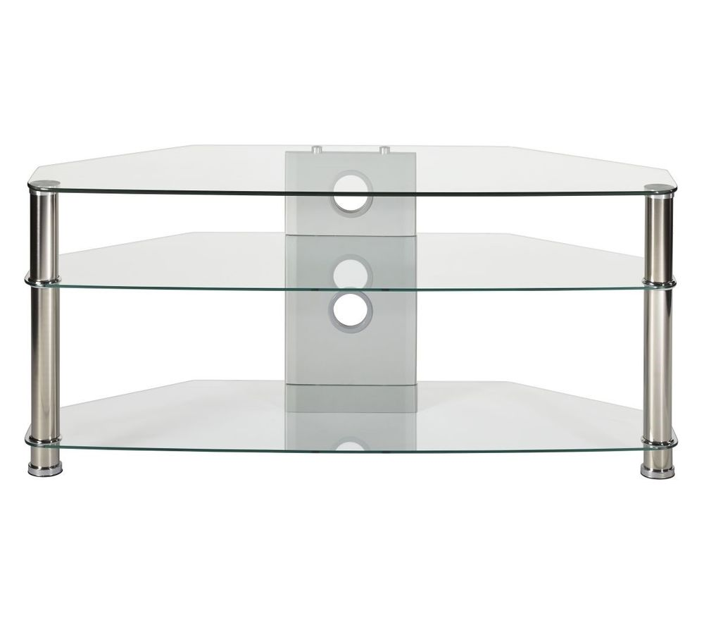 MMT Jet CL-1000 TV Stand - Clear Glass