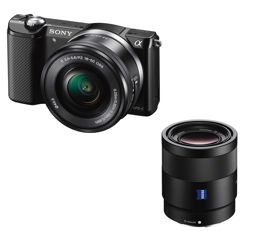SONY a5000 Mirrorless Camera with 16-50 mm f/3.5-5.6 & 55 mm f/1.8 Lens Bundle
