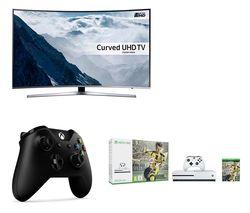 "SAMSUNG UE43KU6670 Smart 4K Ultra HD HDR 43"" Curved LED TV"