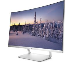 """HP 27 Full HD 27"""" Curved LED Monitor - White & Silver"""