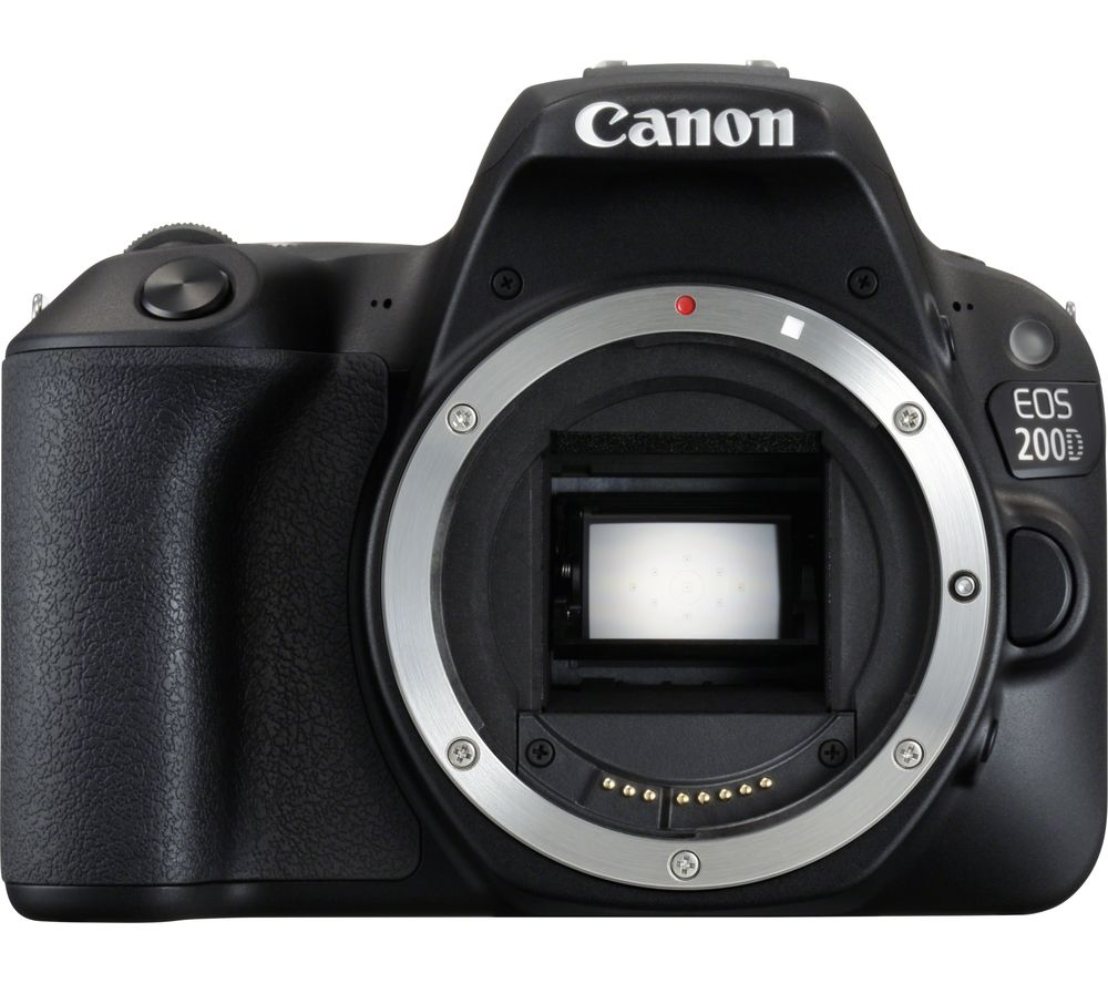 Image of CANON EOS 200D DSLR Camera - Black, Body Only, Black