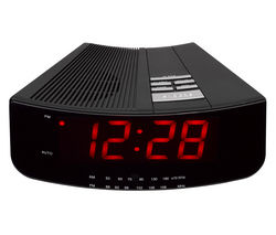 Logik LCRAN12 Analogue Clock Radio (Black)