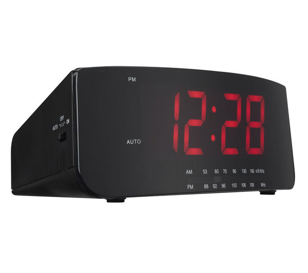 logik lcran12 analogue clock radio black deals pc world. Black Bedroom Furniture Sets. Home Design Ideas