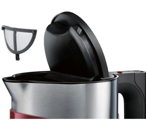 buy bosch styline sensor twk86104gb jug kettle cranberry red free delivery currys. Black Bedroom Furniture Sets. Home Design Ideas