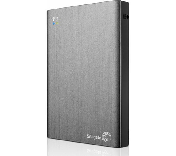 Seagate Wireless Plus Portable Hard Drive  1 TB Black Black