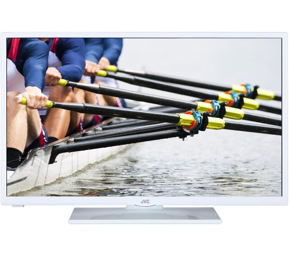 "JVC LT-32C346 32"" LED TV with Built-in DVD Player - White"