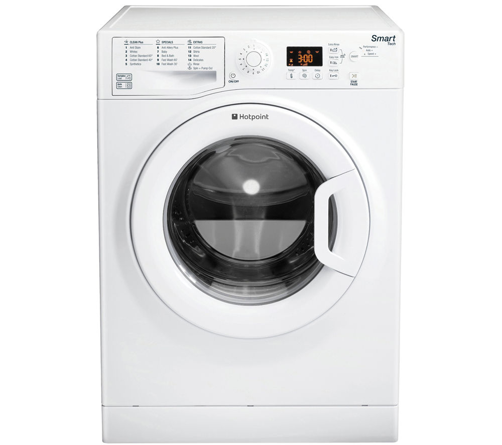 HOTPOINT  WMFUG942PUK SMART Washing Machine - White +  Aquarius TVM570P Vented Tumble Dryer - White
