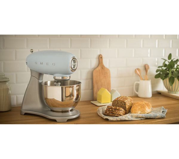 50's Retro Stand Mixer  Pastel Blue  Free Delivery  Currys