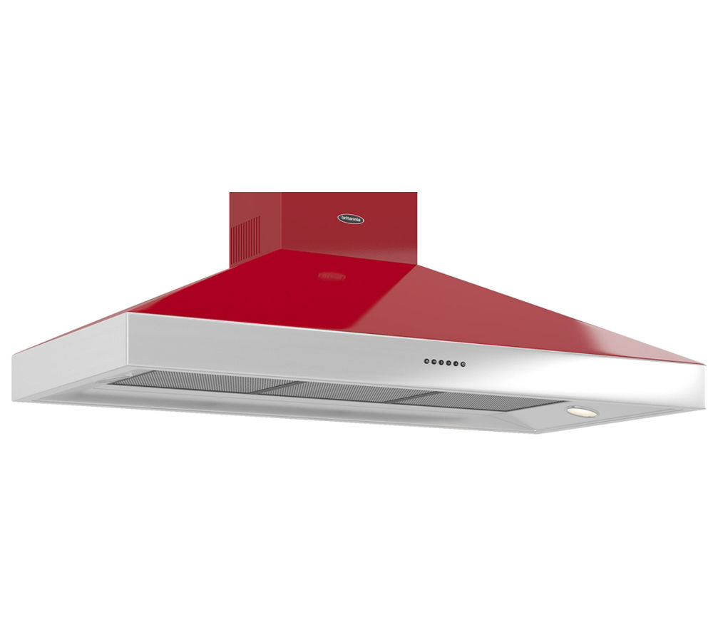 BRITANNIA Latour BTH120GR Chimney Hood - Red