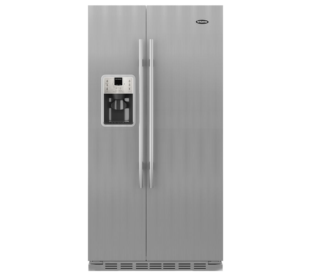 BRITANNIA Montana American-Style Fridge Freezer - Stainless Steel