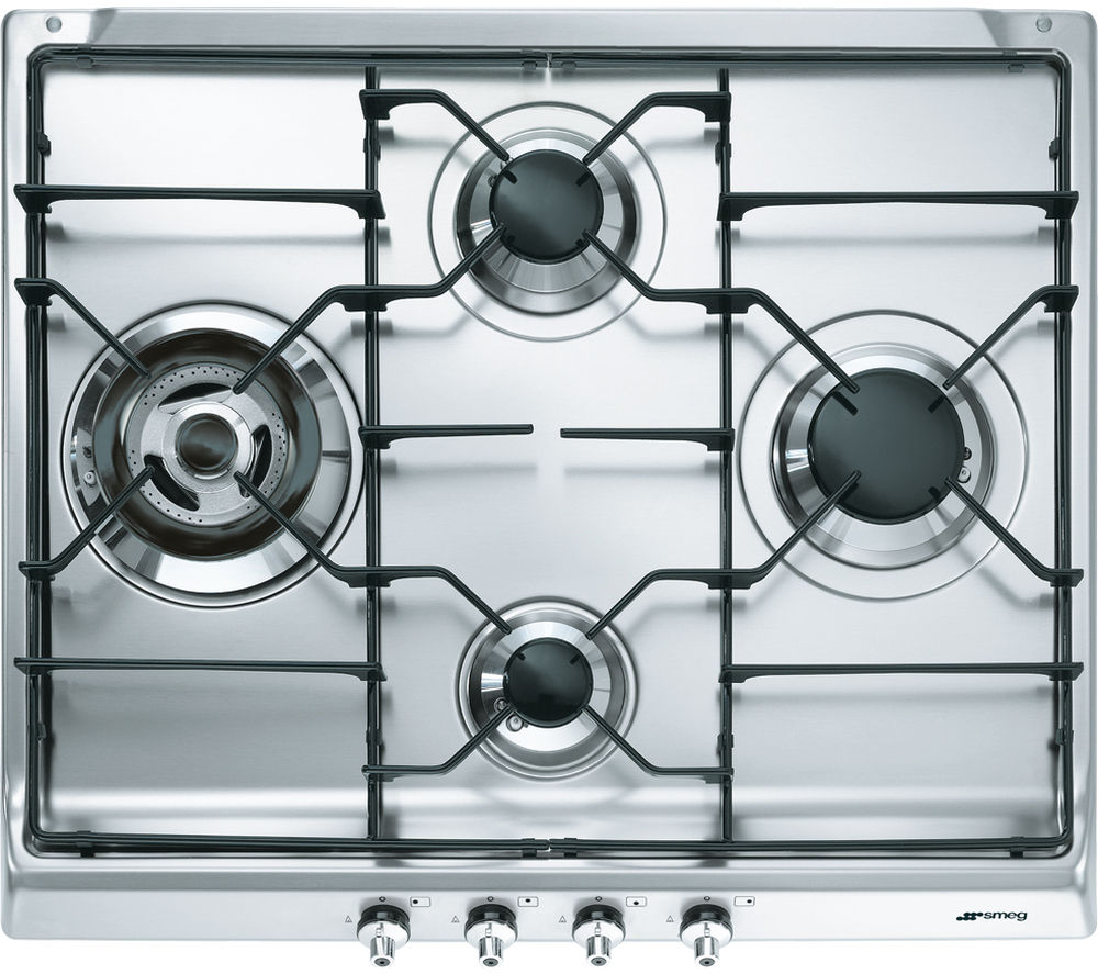 Image of Smeg Classic SER60S3 Gas Hob - Stainless Steel, Stainless Steel