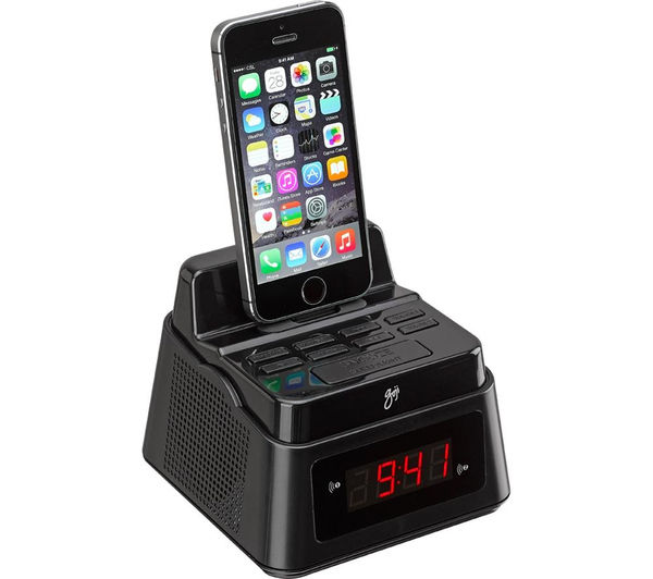 goji gcrlib15 analogue clock radio with apple lightning connector black deals pc world. Black Bedroom Furniture Sets. Home Design Ideas