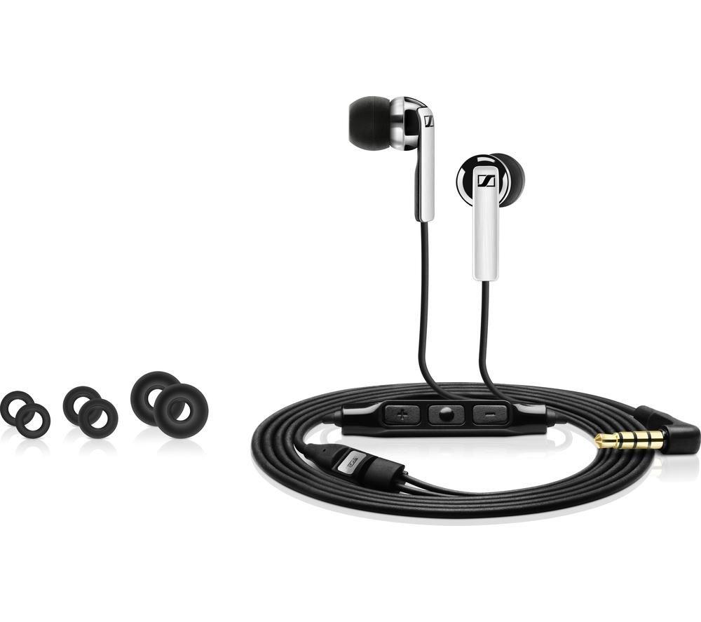 SENNHEISER CX 2.00 G Headphones - Black + iPhone 7 Lightning to 3.5 mm Headphone Jack Adapter