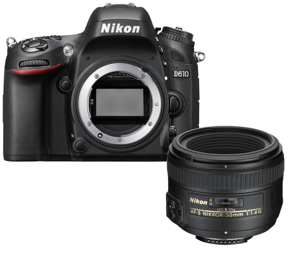 NIKON D610 DSLR Camera with AF-S NIKKOR 50 mm f/1.4G SWM Standard Lens