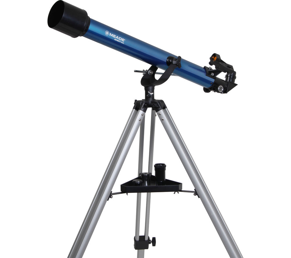 buy meade infinity 600 az refractor telescope blue