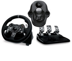 LOGITECH Driving Force G920 Xbox One & PC Racing Wheel & Pedals - Black