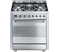 SMEG C7GPX8 70 cm Dual Fuel Range Cooker - Stainless Steel
