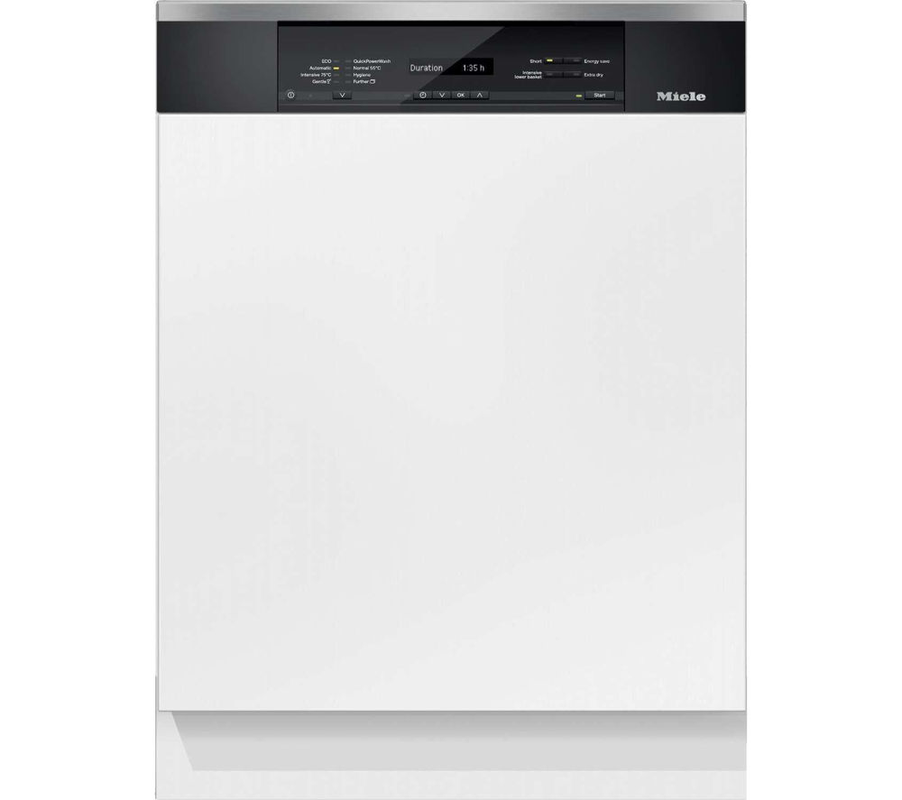 buy miele g6825sci xxl full size semi integrated dishwasher clean steel free delivery currys. Black Bedroom Furniture Sets. Home Design Ideas