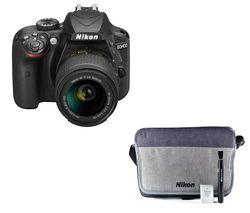 NIKON D3400 DSLR Camera with 18-55 mm f/3.5-5.6 VR Lens - Black