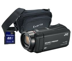 JVC GZ-RX615BEK Camcorder with Case and 32 GB Memory Card - Black