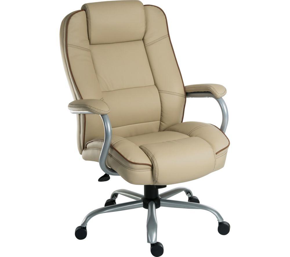 TEKNIK Goliath Duo Bonded Leather Reclining Executive Chair - Cream