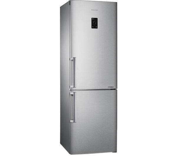 Slimline silver fridge freezer
