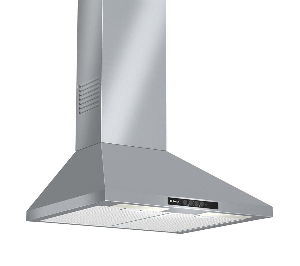 BOSCH DWW06W450B Chimney Cooker Hood – Stainless Steel + PBH6B5B60 Gas Hob - Stainless Steel