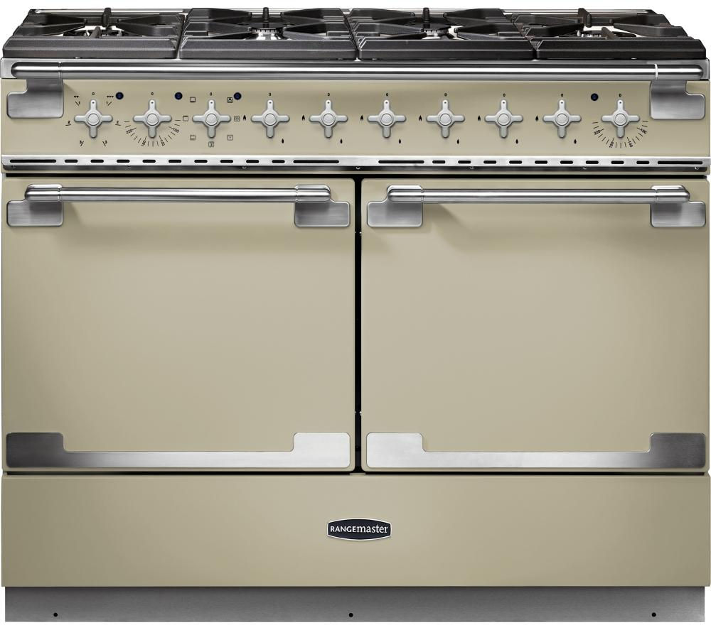 RANGEMASTER Elise SE 110 Dual Fuel Range Cooker - Cream & Chrome