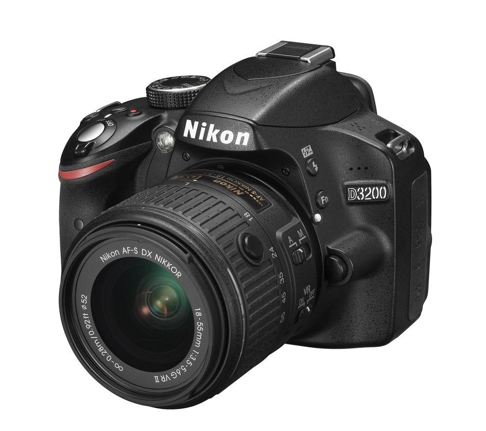 NIKON D3200 DSLR Camera with 18-55 mm f/3.5-5.6 VR II Zoom Lens