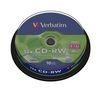 VERBATIM 12x Speed CD-RW Blank CDs - Pack of 10