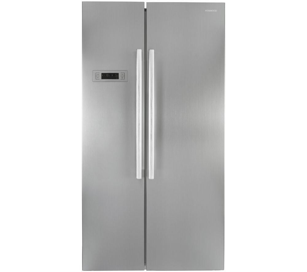 KENWOOD  KFF2DS14 American-Style Fridge Freezer - Stainless Steel, Stainless Steel