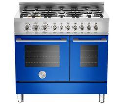 BERTAZZONI Professional 90 Dual Fuel Twin Range Cooker - Blue