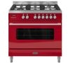 BRITANNIA RC9SGDERED Delphi 90 Dual Fuel Range Cooker - Red