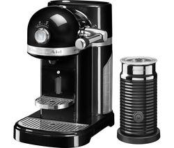 NESPRESSO by KitchenAid Artisan 5KES0504BOB Coffee Machine with Aeroccino 3 - Onyx Black