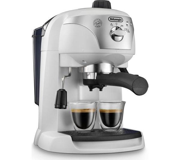Delonghi Coffee Maker Motivo : DELONGHI Motivo ECC221.W Coffee Machine - White