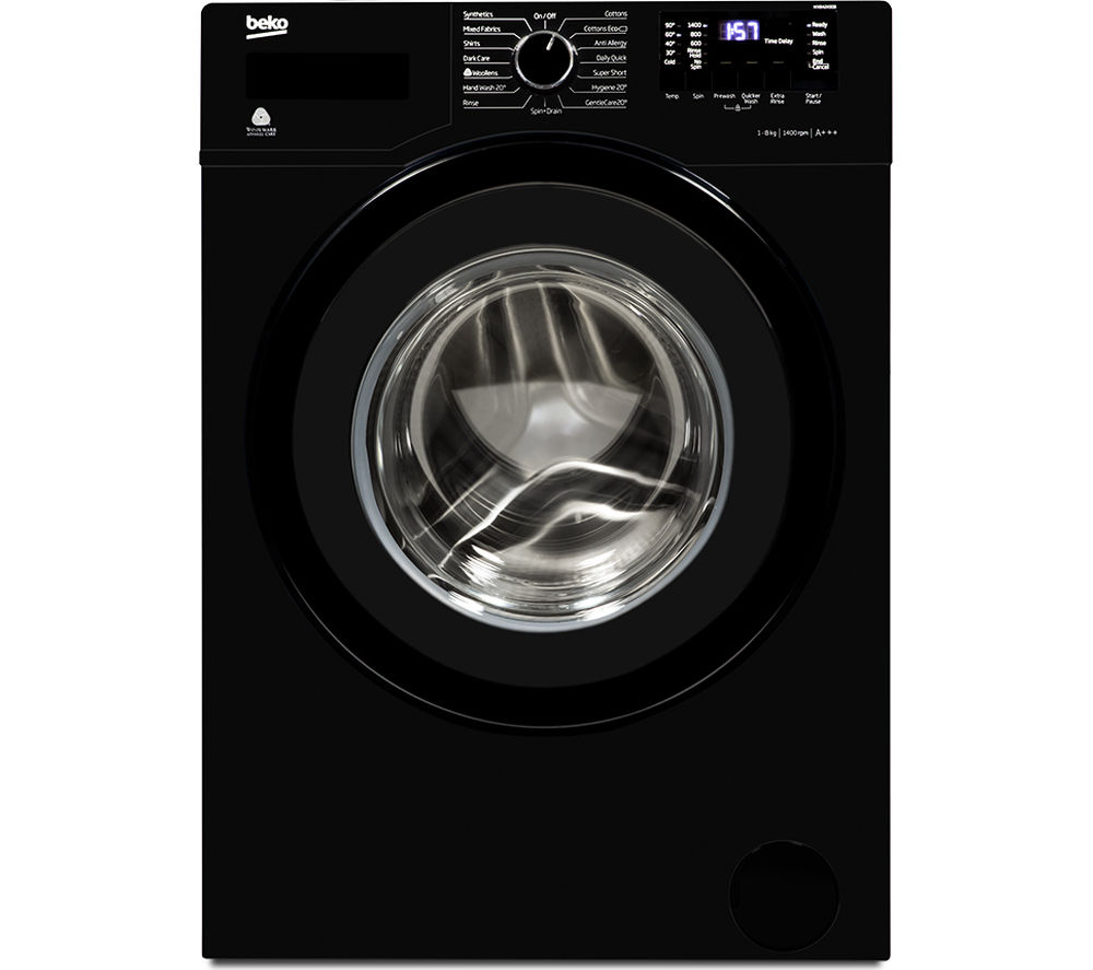 BEKO  WX842430B Washing Machine - Black +  Select DSX83410W Heat Pump Tumble Dryer - White