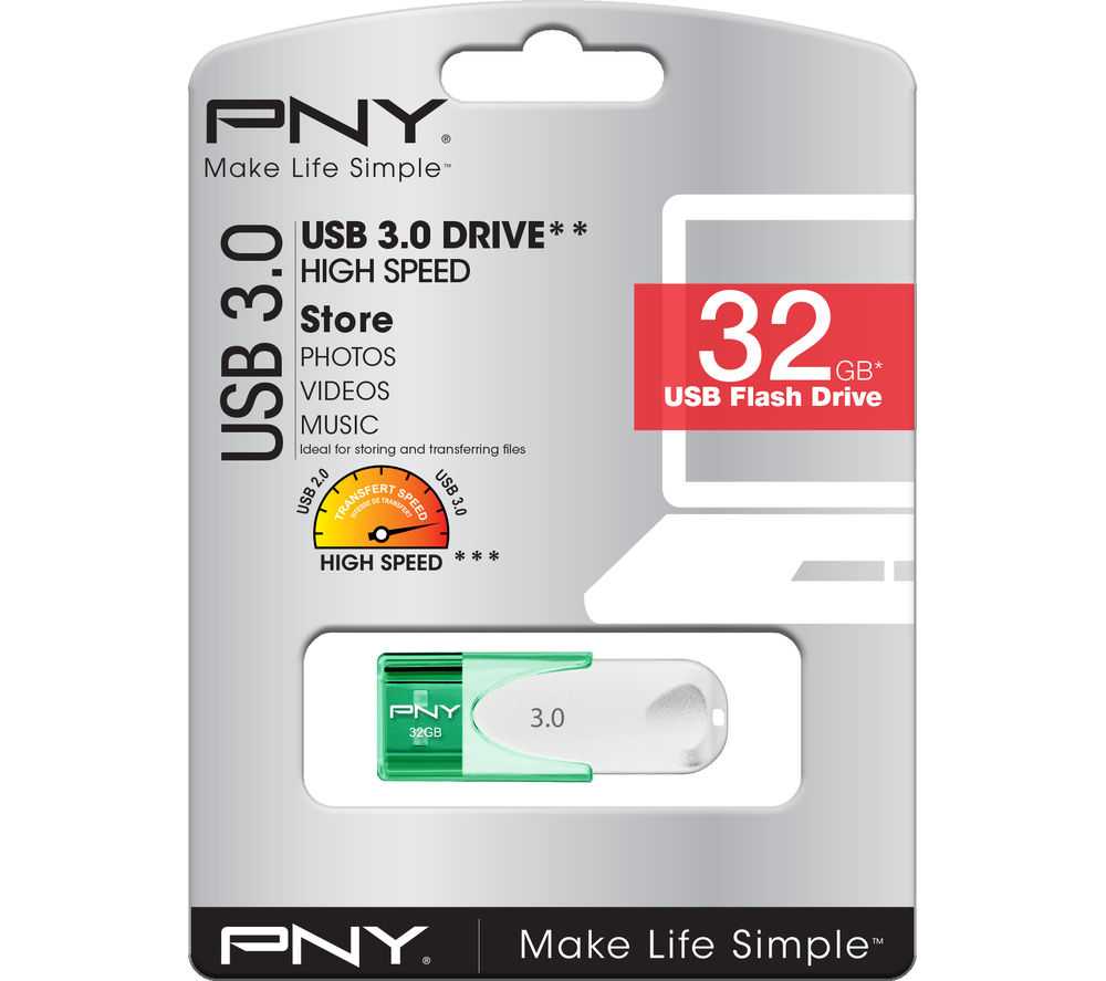 PNY Attaché 4 USB 3.0 Memory Stick - 32 GB