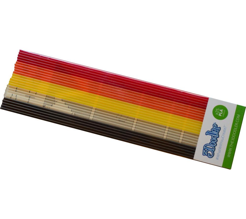 3DOODLER Clearly Autumn PLMIX12 3D Printer Pen Refills - 25 strands