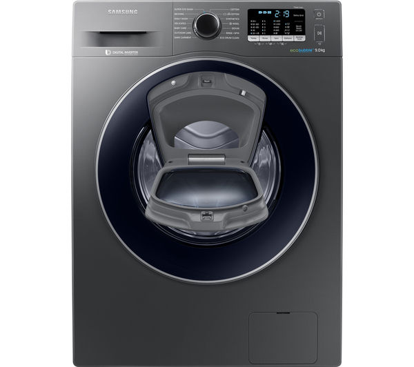 buy samsung addwash ww90k5410ux eu washing machine graphite free delivery currys. Black Bedroom Furniture Sets. Home Design Ideas